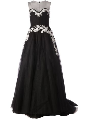 REEM ACRA embellished evening dress
