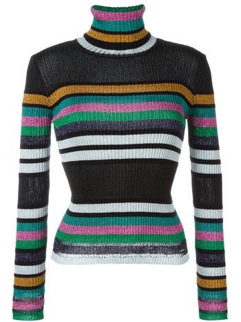 DIESEL ribbed striped turtle neck sweater