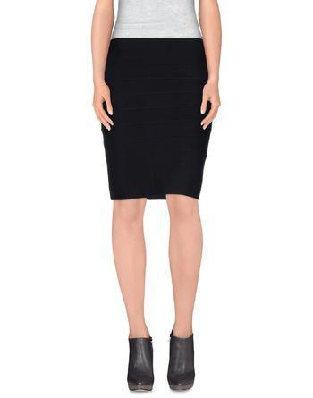 黑色 POEMS 及膝半裙