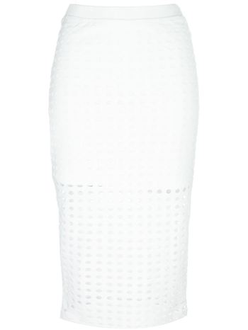 T BY ALEXANDER WANG perforated pencil skirt