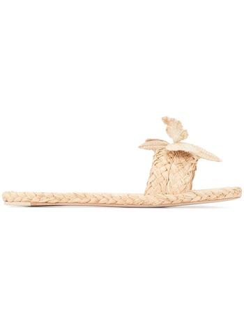 Zimmermann floral woven sandals - Brown