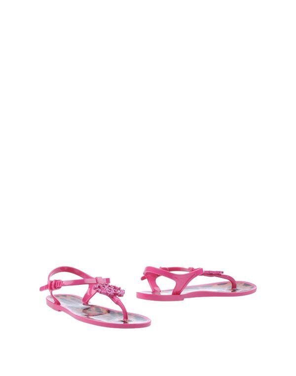 玫红色 ROBERTO CAVALLI 凉鞋