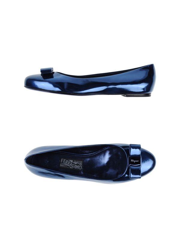 蓝色 SALVATORE FERRAGAMO 芭蕾平底鞋