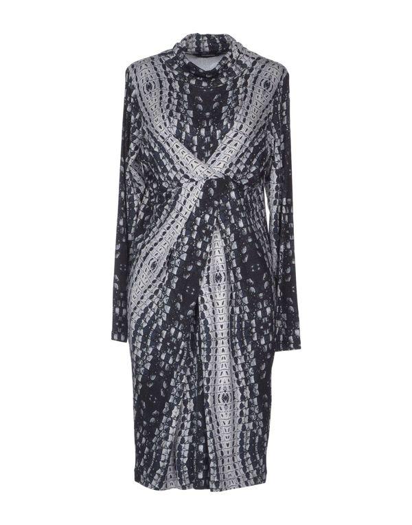 青灰色 ROCCOBAROCCO 及膝连衣裙
