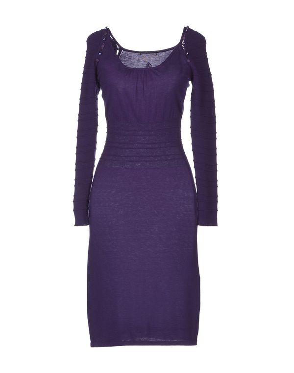 紫色 ROCCOBAROCCO 及膝连衣裙