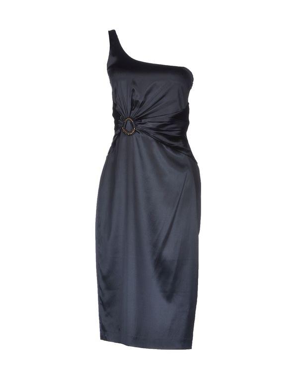 铅灰色 ROBERTO CAVALLI 及膝连衣裙