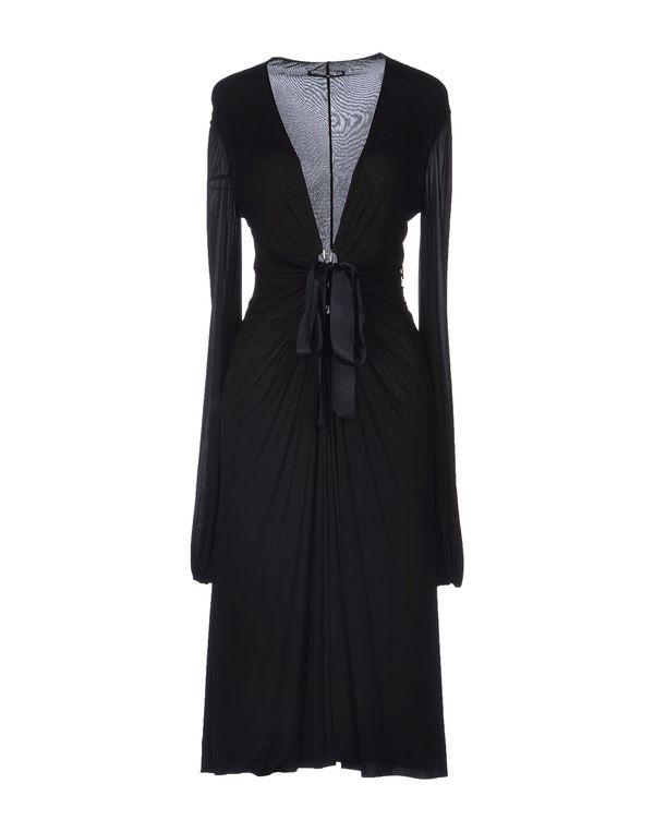 黑色 ROBERTO CAVALLI 中长款连衣裙