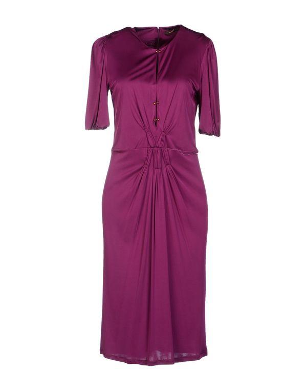 紫色 ROBERTO CAVALLI 及膝连衣裙