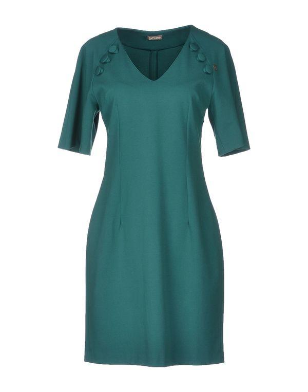 绿色 GALLIANO 短款连衣裙