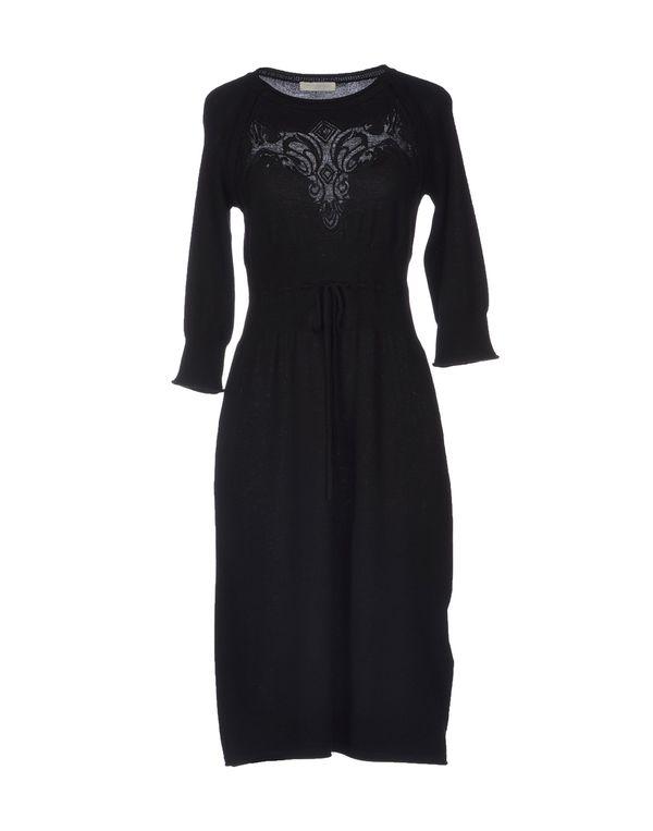 黑色 SCERVINO STREET 及膝连衣裙