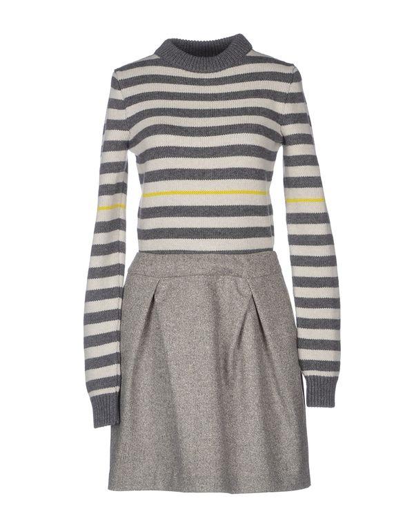 淡灰色 SCERVINO STREET 短款连衣裙