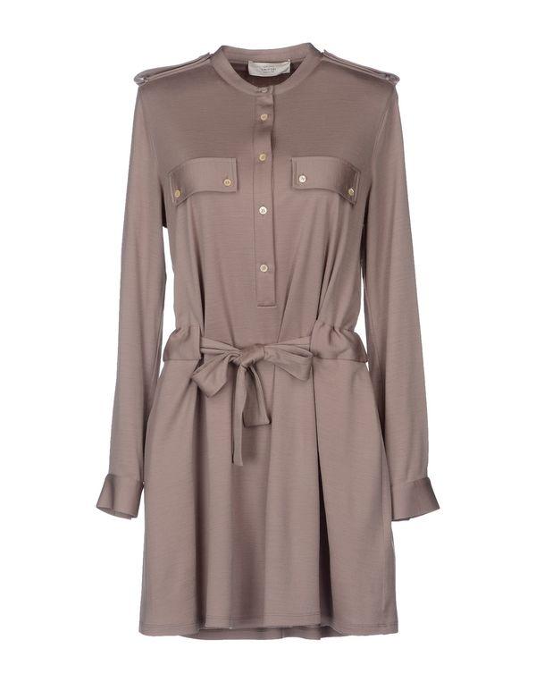 鸽灰色 MAURO GRIFONI 短款连衣裙