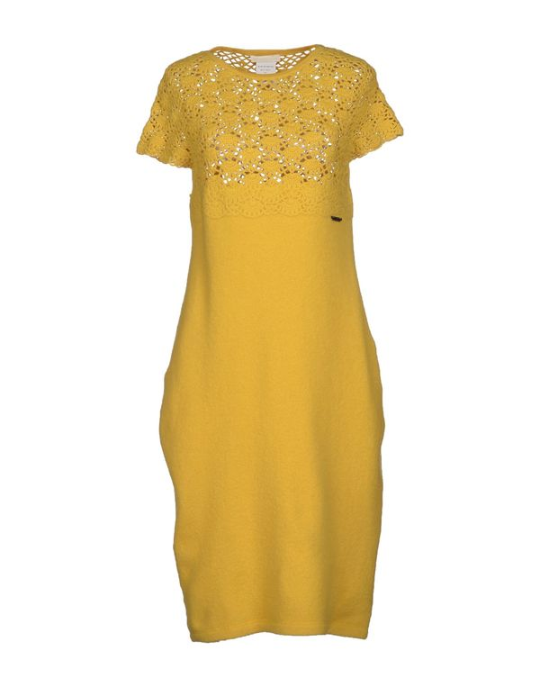 黄色 SCERVINO STREET 短款连衣裙