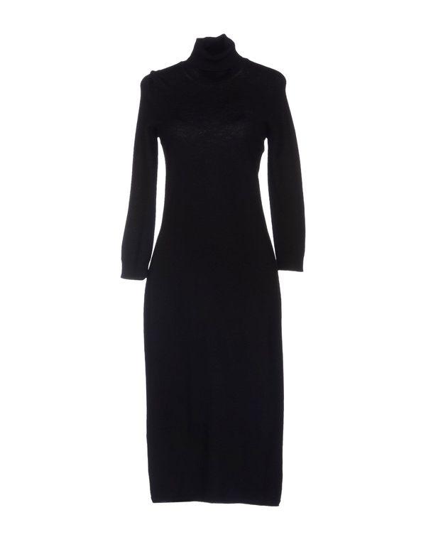 黑色 CRUCIANI 及膝连衣裙