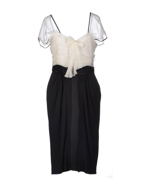 黑色 ALBERTA FERRETTI 及膝连衣裙