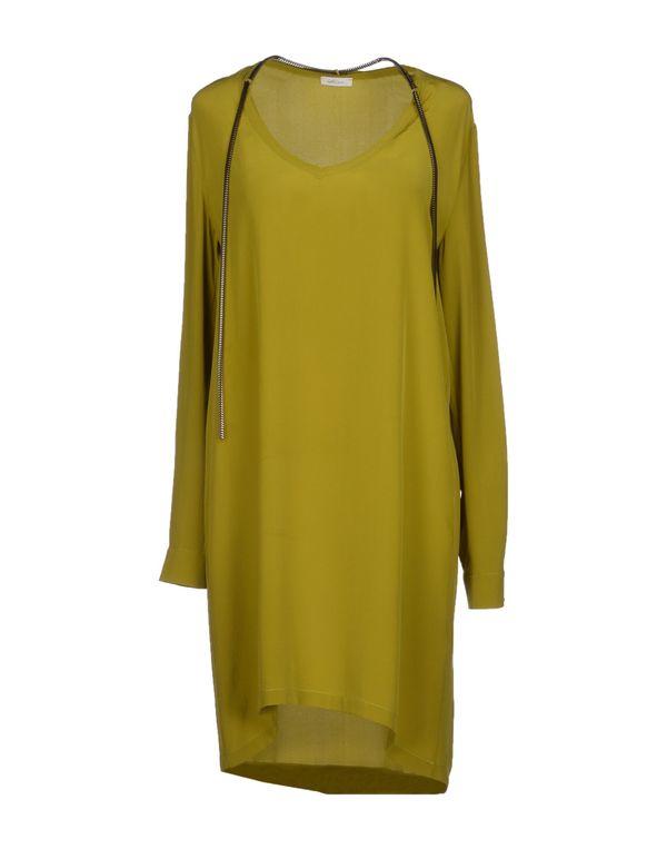 荧光绿 GOLD CASE 短款连衣裙