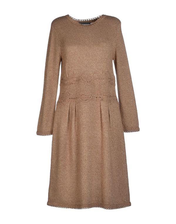 沙色 ALBERTA FERRETTI 及膝连衣裙
