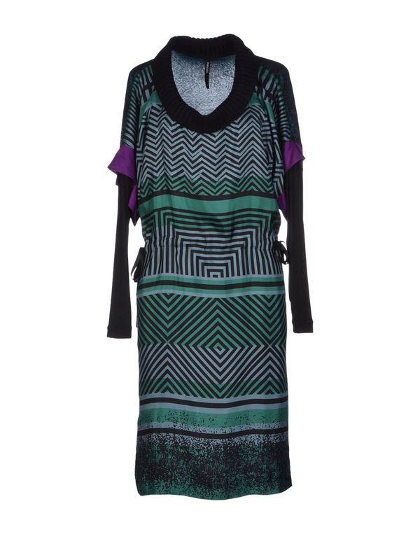 绿色 PIANURASTUDIO 及膝连衣裙
