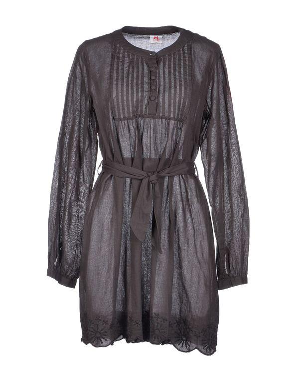 铅灰色 SCEE BY TWIN-SET 短款连衣裙