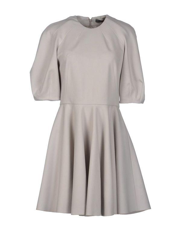 淡灰色 ALEXANDER MCQUEEN 短款连衣裙
