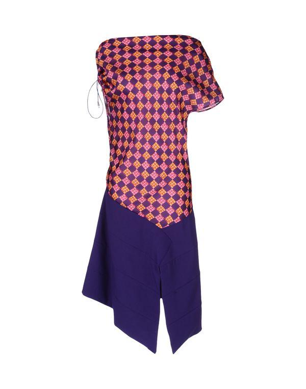 紫色 MILA SCHÖN 中长款连衣裙
