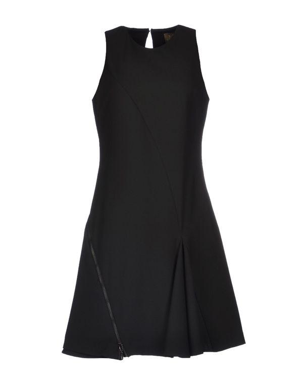 黑色 SPACE STYLE CONCEPT 及膝连衣裙
