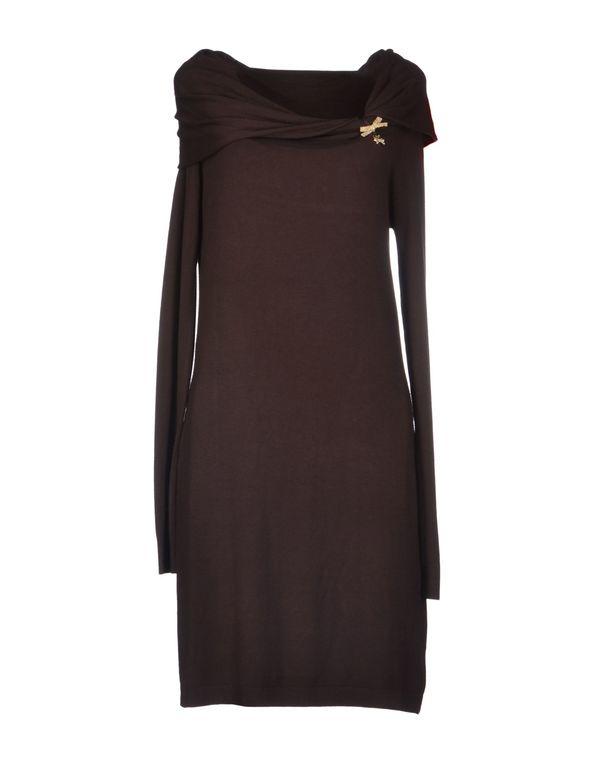 深棕色 LIU •JO JEANS 短款连衣裙