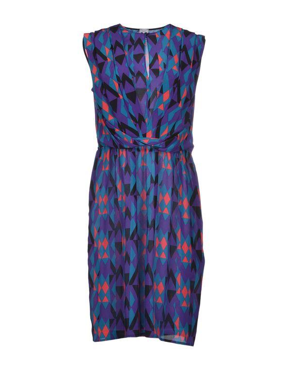 紫色 MISSONI 及膝连衣裙