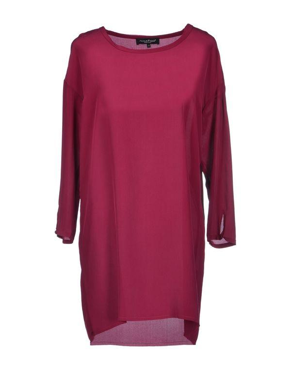 石榴红 ADELE FADO 短款连衣裙
