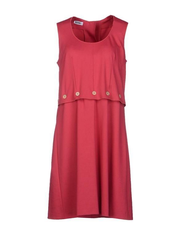 石榴红 MOSCHINO CHEAPANDCHIC 短款连衣裙