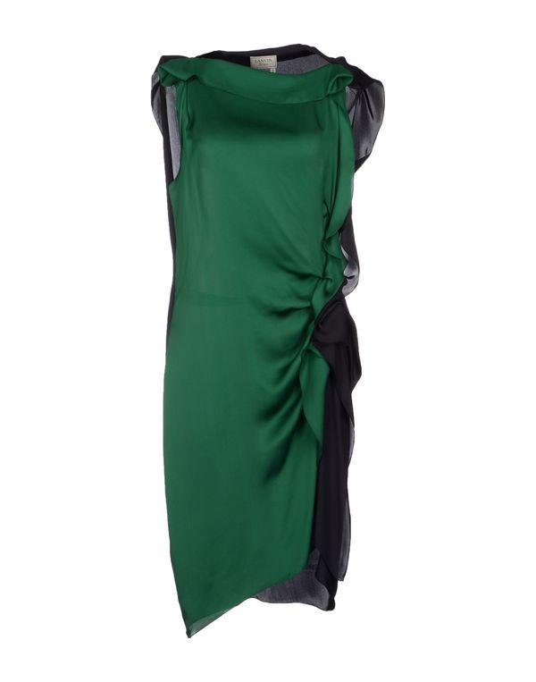 绿色 LANVIN 及膝连衣裙