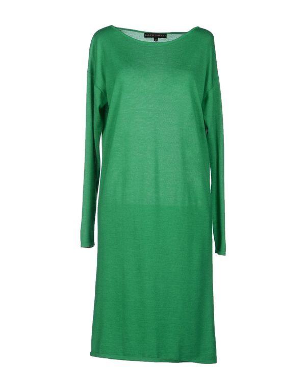 绿色 RALPH LAUREN BLACK LABEL 及膝连衣裙