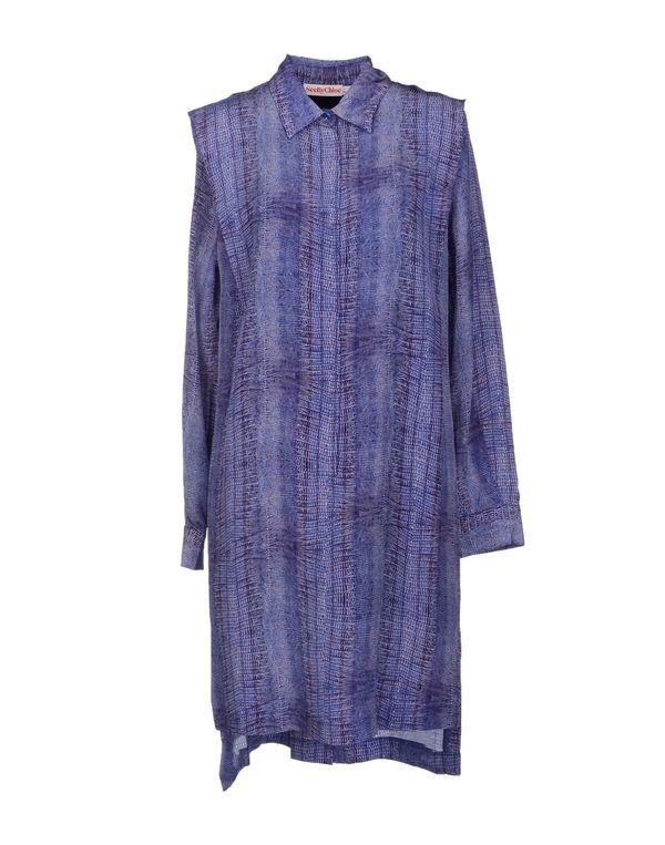 蓝色 SEE BY CHLOÉ 短款连衣裙