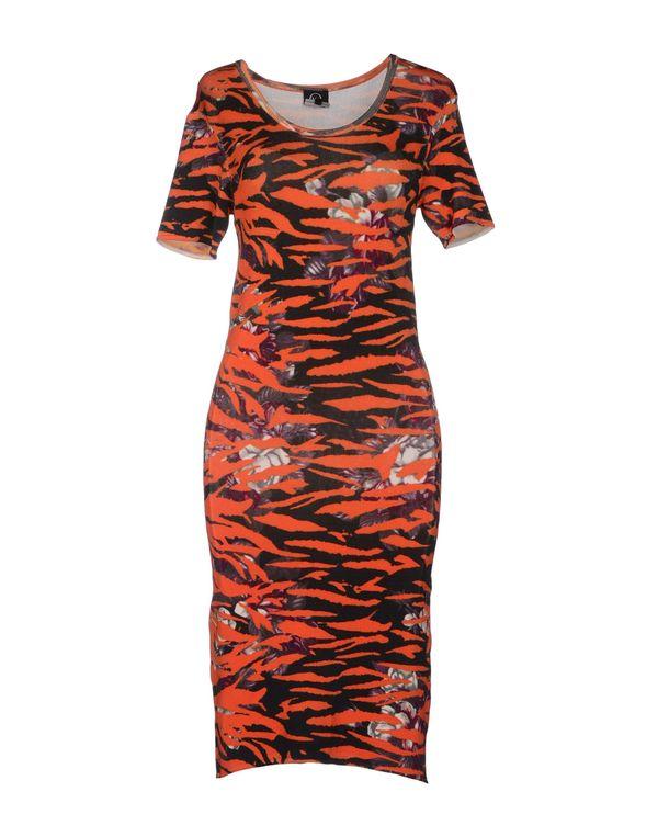 橙色 MCQ ALEXANDER MCQUEEN 短款连衣裙