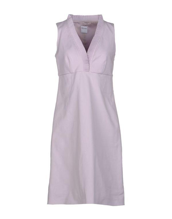 丁香紫 REDVALENTINO 及膝连衣裙