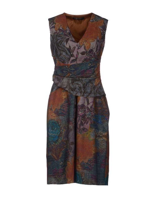 棕色 ETRO 及膝连衣裙