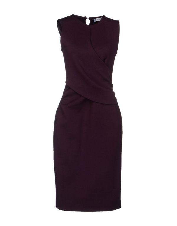 深紫 DIOR 及膝连衣裙