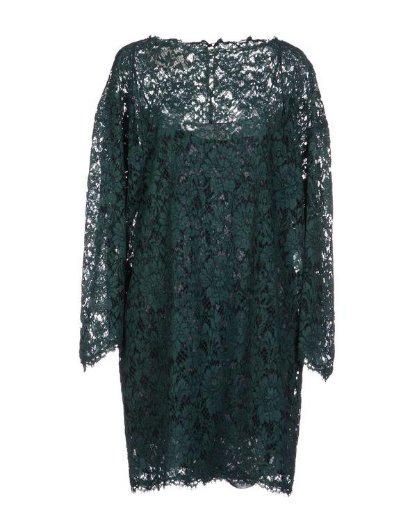 深绿色 VALENTINO 短款连衣裙