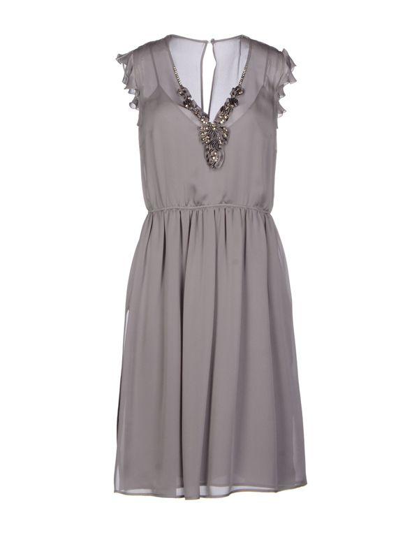 灰色 VALENTINO ROMA 及膝连衣裙