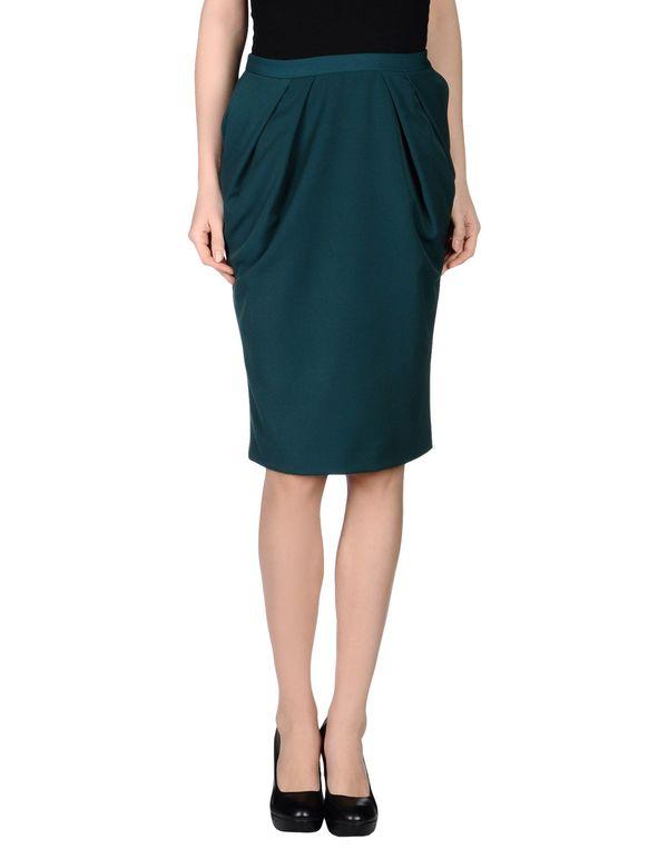 深绿色 LAVINIATURRA 及膝半裙