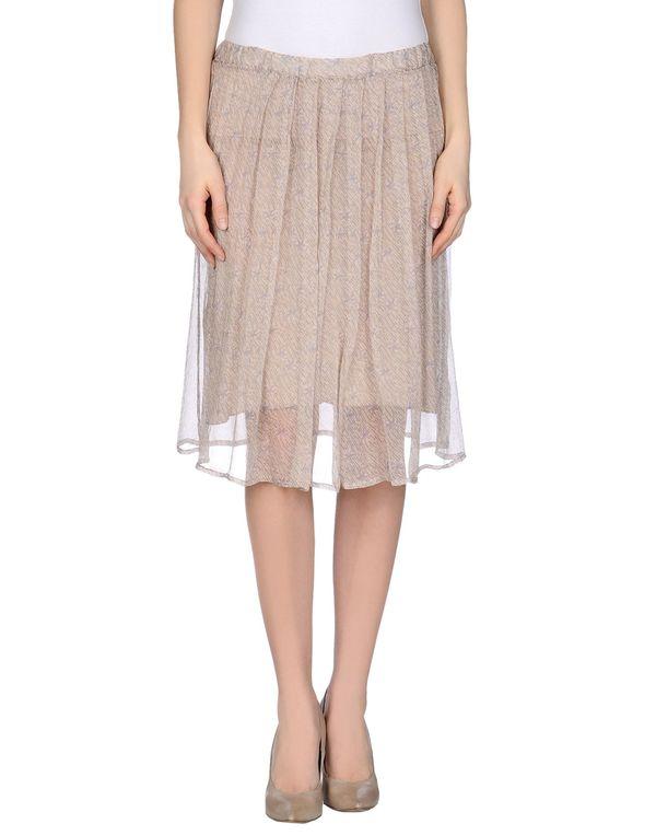 米色 ALMERIA 及膝半裙