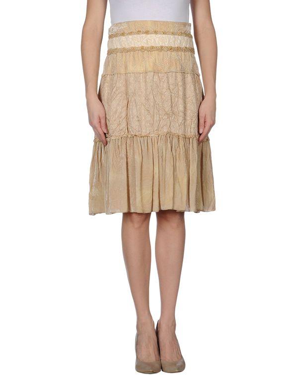 米色 CLASS ROBERTO CAVALLI 及膝半裙