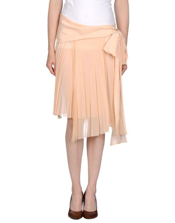 杏色 PATRIZIA PEPE 及膝半裙