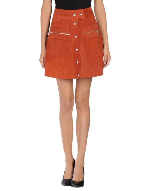 铁锈红 BALENCIAGA 及膝半裙