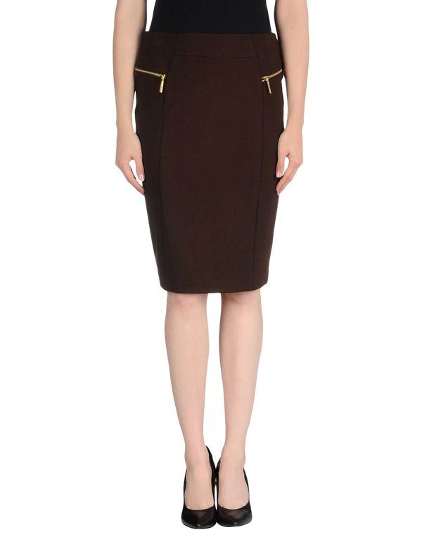 深棕色 MICHAEL MICHAEL KORS 及膝半裙