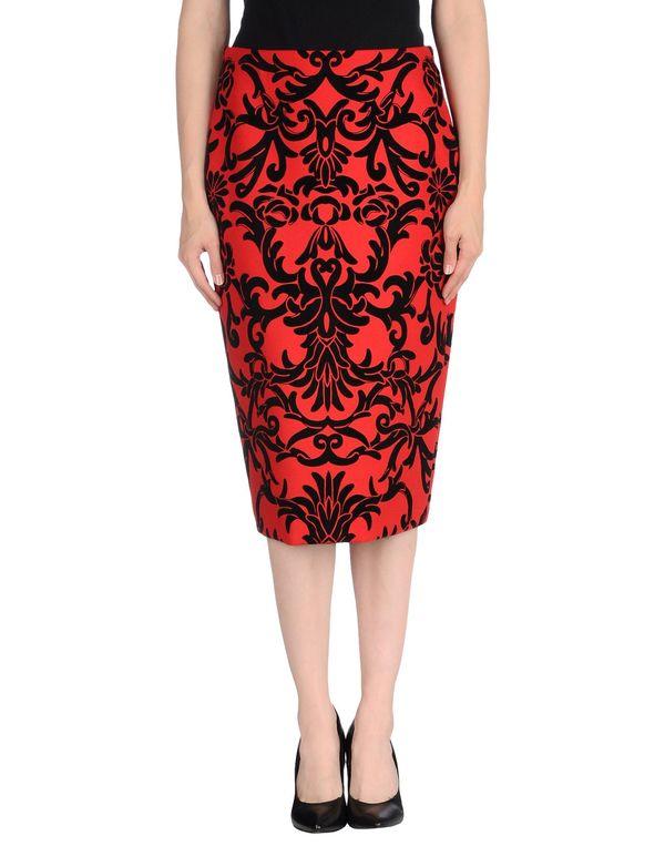 红色 ALEXANDER MCQUEEN 半长裙