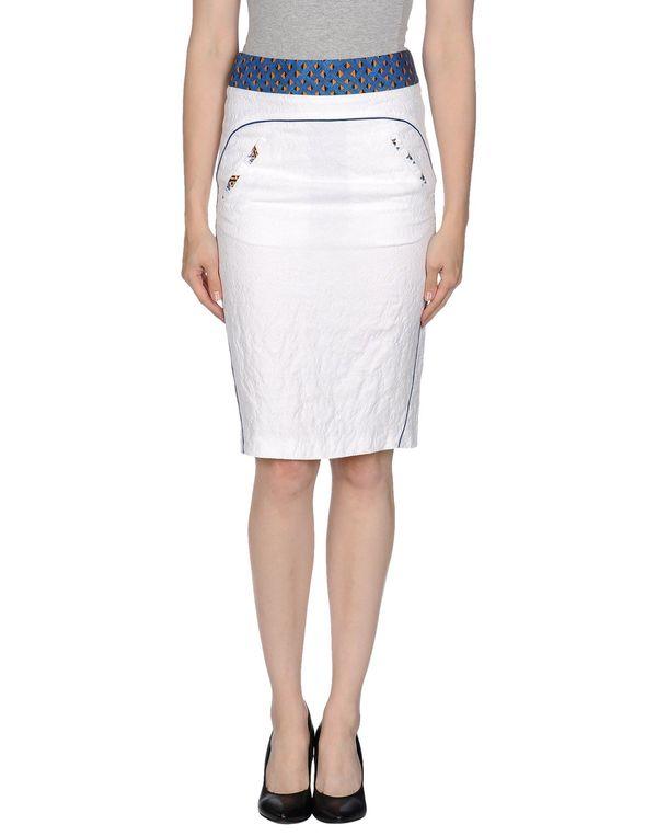白色 MAURO GRIFONI 及膝半裙