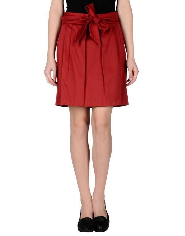 砖红 PF PAOLA FRANI 及膝半裙
