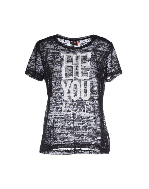 黑色 ONLY T-shirt