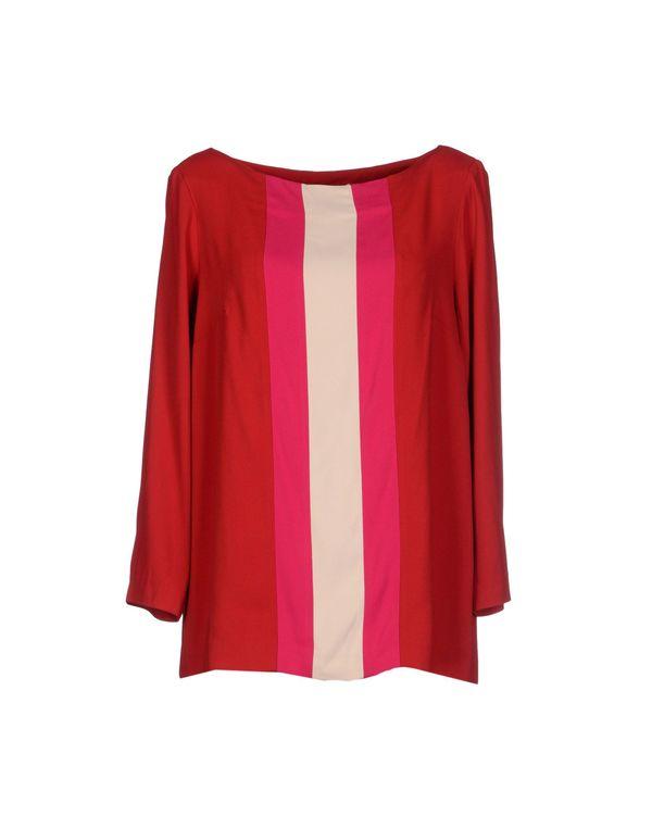 红色 SUOLI 女士衬衫
